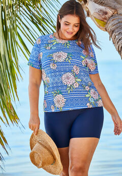 The Swim Tee, PRETTY FLORAL TRIBAL PRINT
