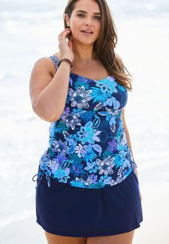 Empire Seam Tankini Swim Top,