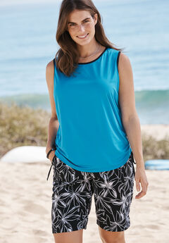 Swim Tank Coverup, DEEP TURQ