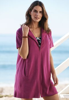 Hooded Terrycloth Swim Coverup,