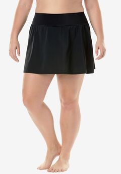 High-Waist Skirt by Trimshaper®, BLACK, hi-res