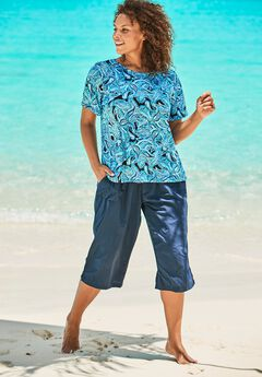 The Swim Tee, DREAM BLUE PAISLEY