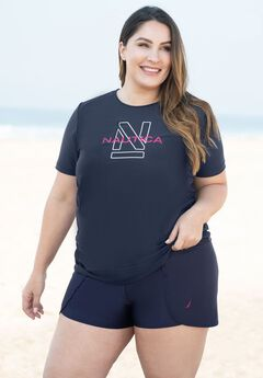 Shirred Swim Tee by Nautica,