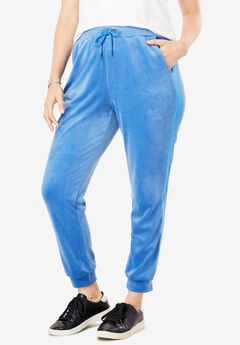 Side Stripe Velour Jogger Pant,