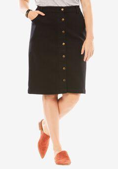 Stretch Skirt, BLACK, hi-res