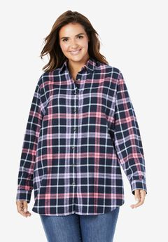 Classic Flannel Shirt, NAVY MULTI PLAID