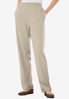7-Day Knit Straight Leg Pant, NATURAL KHAKI