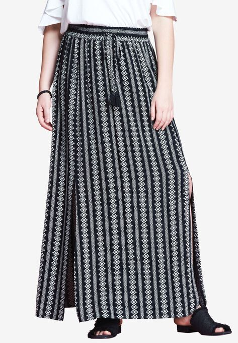 Slit Maxi Skirt By Chelsea Studio Plus Size Bottoms Woman Within