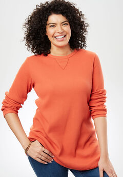 Thermal Sweatshirt, SAHARA ORANGE