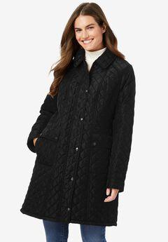 Fleece-Lined Quilted Coat,