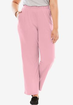 7-Day Knit Wide Leg Pant, ROSE MIST, hi-res
