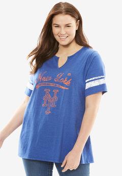MLB® Notch V-neck tee, METS, hi-res