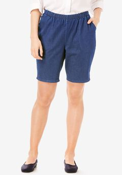 Fineline Denim Short, INDIGO