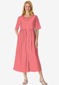 Button-Front Essential Dress,