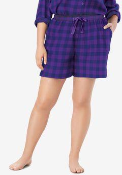 Flannel Pajama Short ,