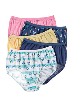 10-Pack Pure Cotton Full-Cut Brief by Comfort Choice®, NAUTICAL PACK