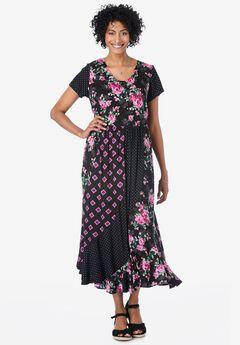 MIXED PRINT maxi dress,