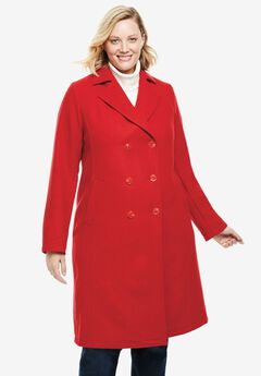 Double-Breasted Long Lightweight Wool Coat,