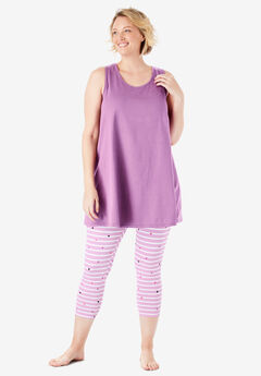 238309d65af8d Scoopneck Tank & Capri Legging PJ Set by Dreams & Co.®