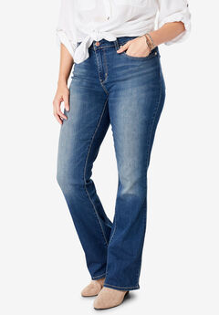Signature by Levi Strauss & Co.™ Gold Label Women's Plus Mid-Rise Boot Cut Jeans, STANDOUT