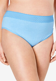 3-Pack Lace Waistband High-Cut Brief by Comfort Choice®,