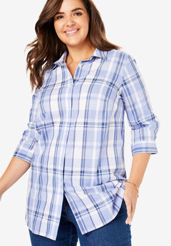 6eff6a77cdf73 Printed Three-Quarter Sleeve Perfect Shirt