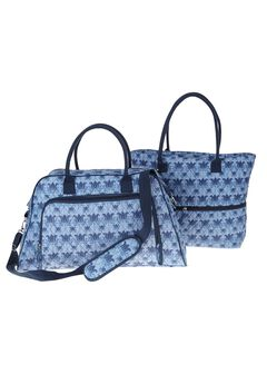 2 Piece Weekender Bag Set, ROYAL NAVY HAPPY TULIP, hi-res
