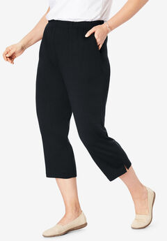 7-Day Knit Capri, BLACK, hi-res