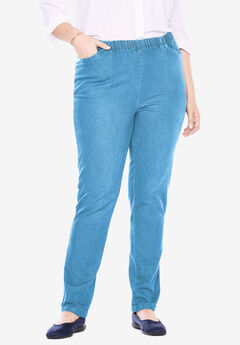 Straight Leg Fineline Jean, LIGHT STONEWASH