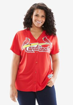 MLB® V-neck jersey tee , CARDINALS, hi-res
