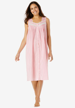 Sleeveless Button Front Night Gown,