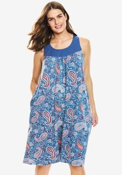 Sleeveless Cotton Sleepshirt by Dreams & Co.®,