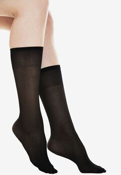 2-Pack Extended Size Compression Knee-High by Comfort Choice®, MIDNIGHT BLACK, hi-res