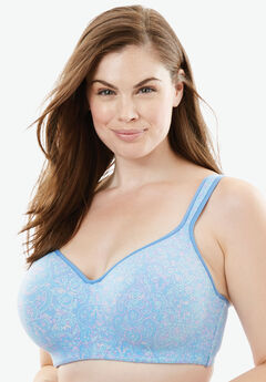 Flex Wire Tee Bra by Comfort Choice®, BLUE SKY MEDALLION, hi-res