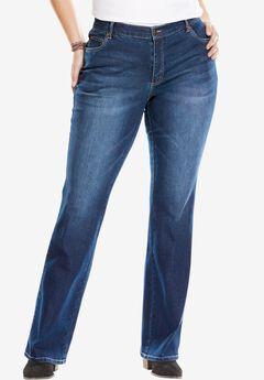 Bootcut Stretch Jean, , hi-res