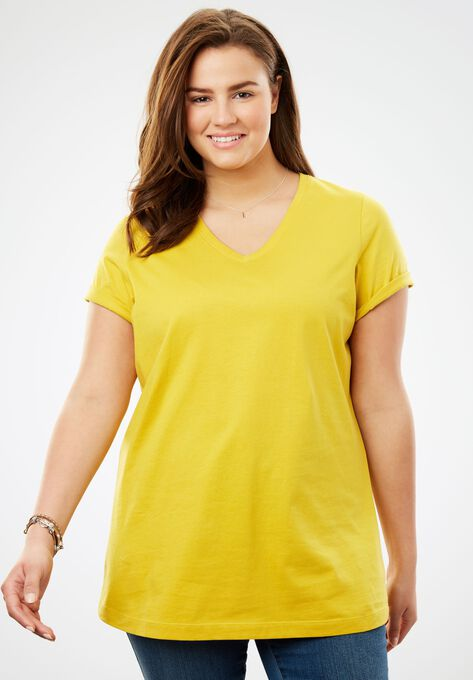 de795c05 Perfect V-Neck Tee| Plus Size Tops | Woman Within