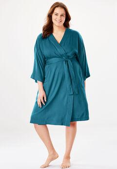 Kimono Wrap Robe, DEEP LAGOON, hi-res