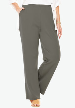 7-Day Knit Wide Leg Pant, OLIVE GREY