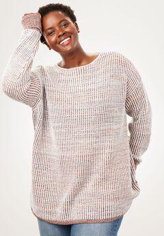 Multi Chunky Knit Sweater,