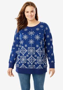 French Terry sweatshirt, SNOWFLAKE