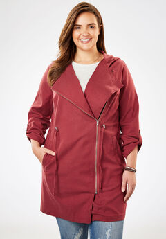 Lightweight Utility Jacket, ANTIQUE MAROON, hi-res