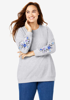 Embroidered Sweatshirt,