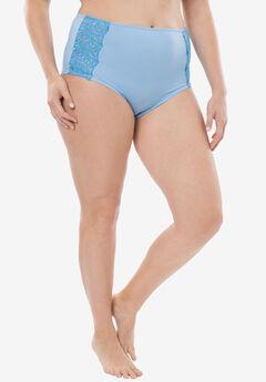 Amoureuse® Embroidered Cheeky Boyshort, BLUE MIST FOUNTAIN BLUE, hi-res