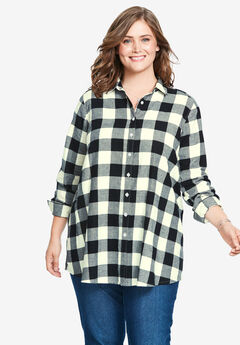 Flannel Tunic, IVORY BUFFALO PLAID