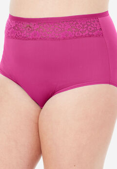 Mesh Insert Microfiber Full Cut Brief by Comfort Choice®,