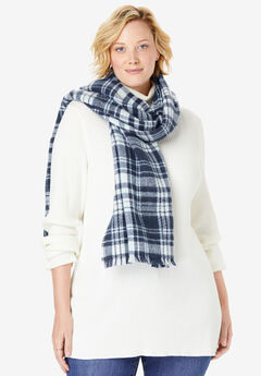 Plaid Blanket Scarf,