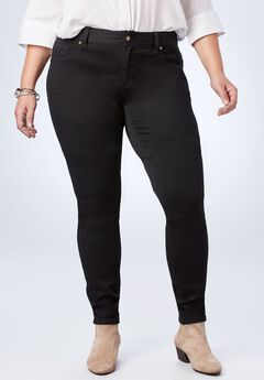 Perfect Curvy Jegging, BLACK DENIM