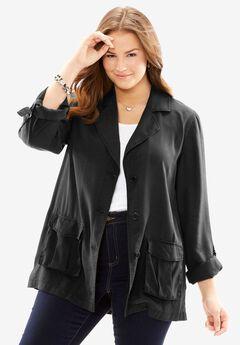 The Drapey Jacket, BLACK, hi-res