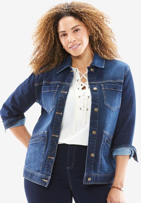 Denim Jacket Plus Size Jackets Woman Within