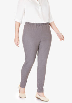 Fineline Denim Jegging, GREY